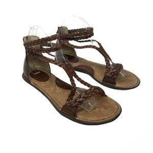 BOC Born Concept Brown Braided Gladiator Sandals 8